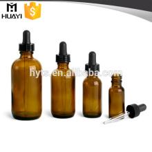 5ml 10ml 15ml 20ml 30ml 50ml 100ml frasco de vidro âmbar com conta-gotas