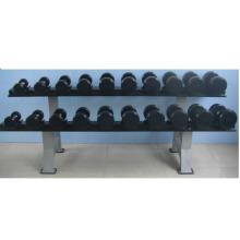 Équipement de conditionnement physique d'haltères recouvert de caoutchouc de haute qualité