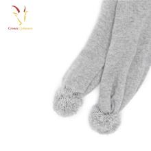 Cachecol de cashmere inverno lã meninos e meninas inverno malha cachecol