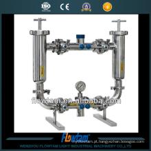 Filtro de tubulação duplex de qualidade industrial em aço inoxidável