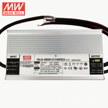 WIth goods now MEANWELL 7 years 1400ma constant led driver 300VDC HLG-480H-C1400A