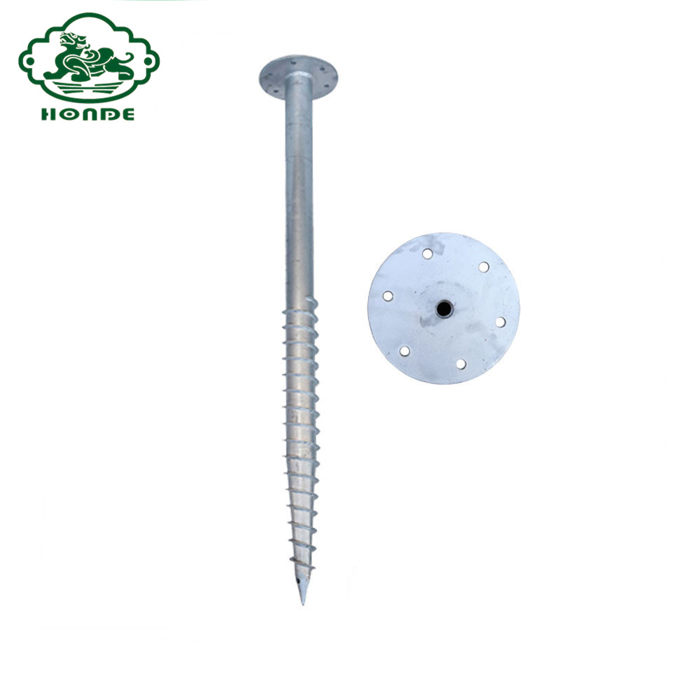 ground screw with flange