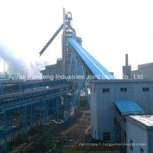 Cema / DIN / ASTM / Sha / Cema Convoyeur à bande / application de convoyeur à bande vers le bas dans les aciéries