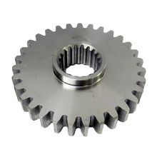 Custom Machining Steel Spline Gear med fläns