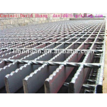 raw finished serrated steel bar grating