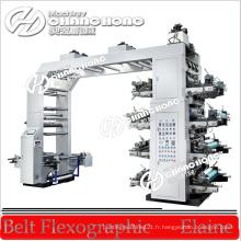 Machine d'impression typographique de flexographie de film de 8 couleurs