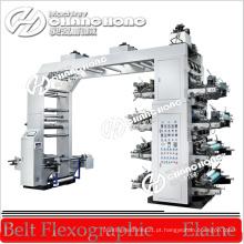 Máquina de impressão flexográfica de filme de 8 cores para tipografia