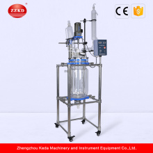 Vacuum Stirred Heating Jacketed Tank Glass Reactor