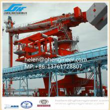 Déchargeur de navire de type vis à vis verticale pour la manutention et la transmission du ciment