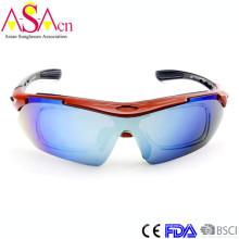Mode Austauschbare Tempel Sport Tr90 Sonnenbrille mit Innen Optische Rahmen Xiamen