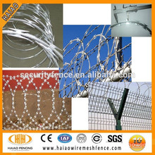 High quality ISO galvanized razor barbed wire ( China manufacturer )