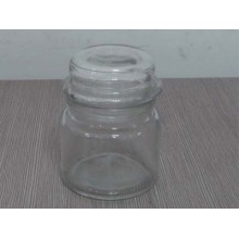 Glass Candle Jar with Lid, Glass Votive Candle Jar