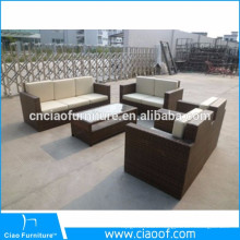 Foshan Supplier Handmade Wicker Rattan Garden Sofa
