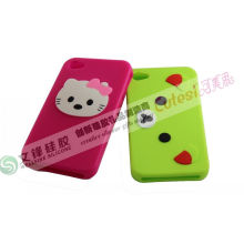 Customize Waterproof Non-stick Pink Apple Iphone 4 Silicone Cell Phone Case