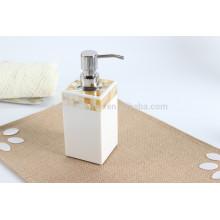 Pompe de distribution de savon liquide de luxe avec coquillage décoratif