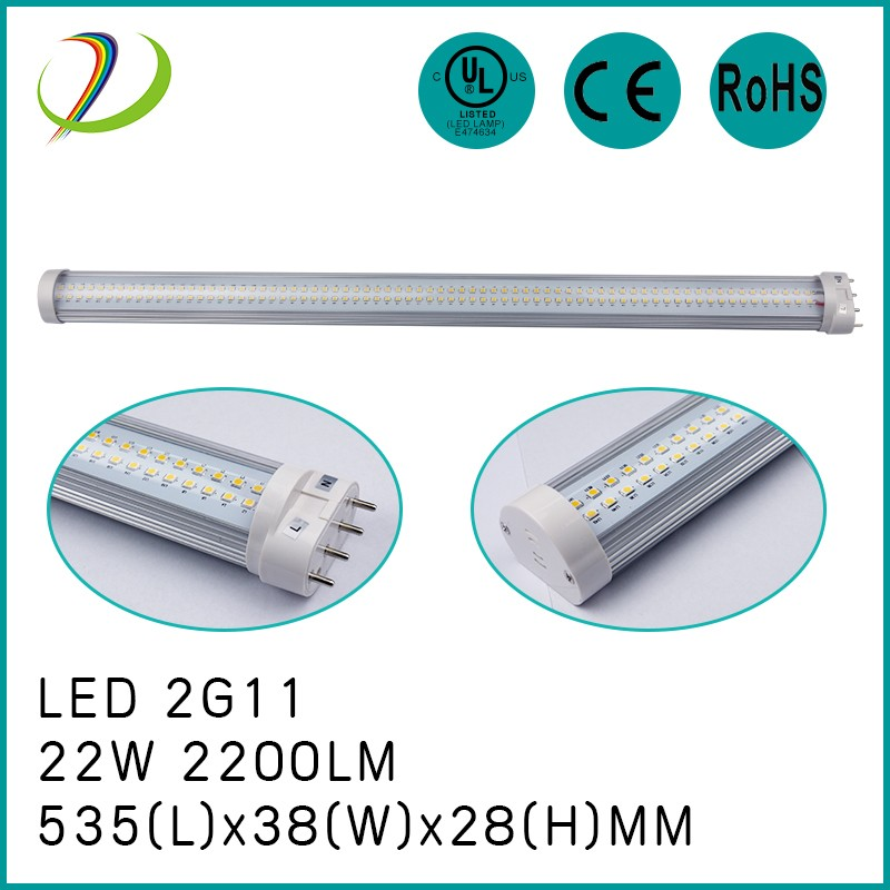 22W 2G11 led tube light 180degree angle