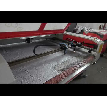 preço barato igoldencnc cabeças duplas tecido gravador a laser e cortador