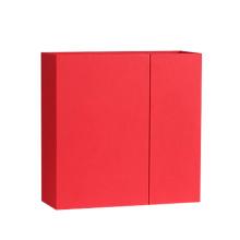 Nouveau design distinctif boîte rouge mat double porte