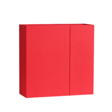 Novo Design Distintivo Matt Red Box Porta Dupla