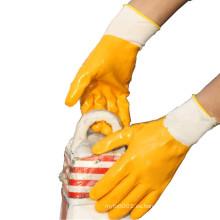 NMSAFETY revestimiento completo de nitrilo y revestimiento de nitrilo de palma transparente sumergido guantes