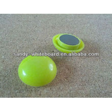 Botão magnético plástico, ímã revestido plástico, botão magnético redondo, acessórios do whiteboard, 30mm XD-PJ202-2