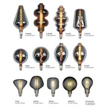 Shaped glass lamp filament bulb chandelier