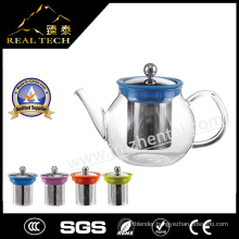Wholesale Christmas Gift Borosilicate Glass Teapot 600ml