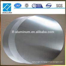 0,5 mm de espesor Aleación 1050 3003 Aluminio Círculo / Discos Placa para utensilios de cocina antideslizantes