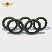 Hydraulic piston rod oil resistant step seals ring