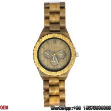Relojes de cuarzo del reloj del sándalo verde de calidad superior Hl03