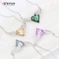 Cristales de joyería de moda N0329002 de Swarovski, collar de corazón