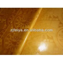 100% Хлопок Базен Riche Гвинея Парчи Дамасской Ткани Африканский Золотой Цвет Парфюма Мягкий Новый Дизайн Текстиль