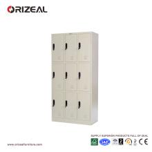 Casier de rangement en métal Orizeal 9 portes (OZ-OLK004)