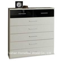 Muebles de dormitorio de alto brillo gabinete de 2 + 5 cajones de pecho (HC33)