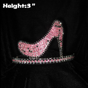 3inch High Heel Crystal Rhinestone Pageant Crowns