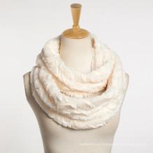2017 moda fax pele mulher em relevo laço cachecol