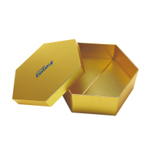 Foldbar Guldpapper Hexagon Hat Packaging Box