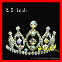 Cuento de belleza tiara crown, AB crystal crown, medidas disponibles