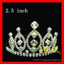 Couronne de tiare du concours de beauté, couronne de cristal AB, tailles disponibles