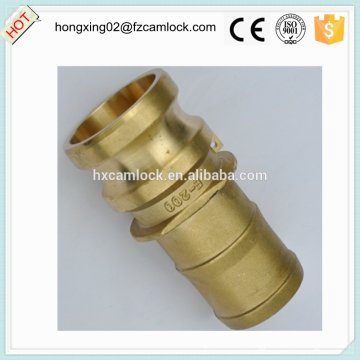 Camlock Brass type E with hose tail, cam lock fittings, quick coupling China manufacture