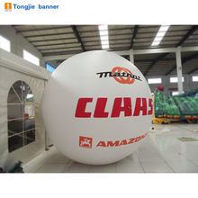 Advertising inflatable balloon with blower