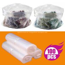 Bolsas de polietileno planas transparentes de plástico Embalaje superior abierto