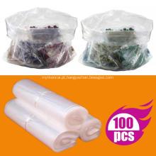 Embalagem com tampa aberta de sacos plásticos transparentes planos