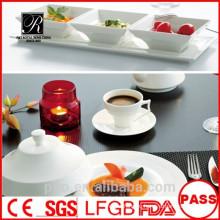 Завод керамической керамики P & T, квадратные чаши, блюдце с поддоном, разделенные тарелки