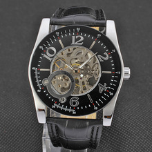 casual watch brand with bezel outsert design leather band
