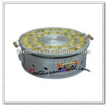K405 Fabricante de torta de huevo de gas de acero inoxidable de mesa