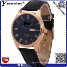Yxl-513 2016 New Fashion Casual Round Dial Leather Strap Men Watch Hot Watch, Stock Available Wristwatch, Fashionable Wristwatch