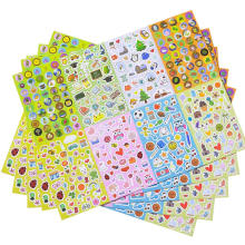 No-Duplicate Variety Cartoon Sticker Pack Assortment Set Sheets for Kids