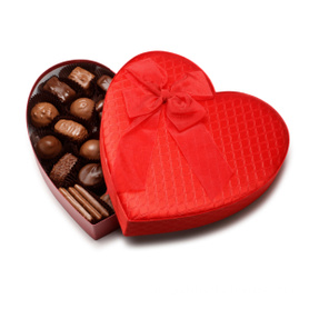 Luxury Matt Heart Chocolate Gift Paper Packaging Boxes