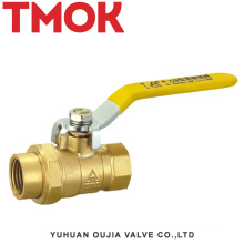 brass color long handle flexible interface ball valve